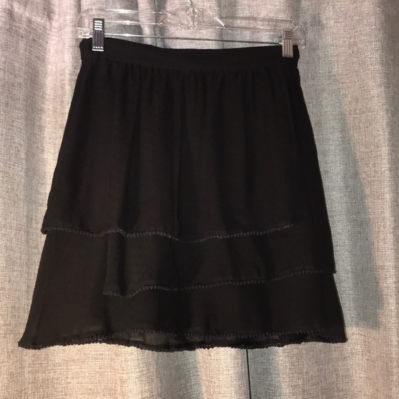 BCBGeneration Dresses & Skirts - Black chiffon skirt